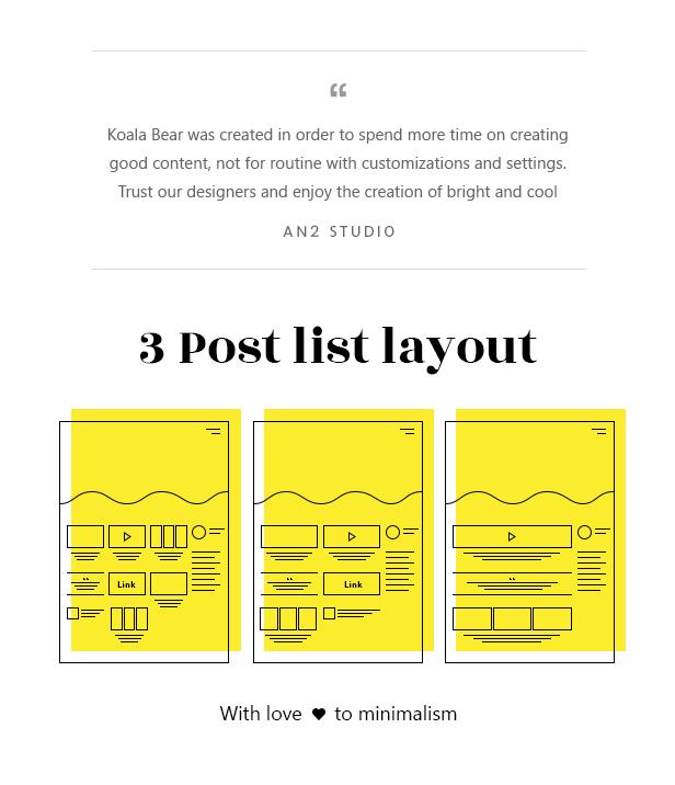 Koalogger theme  Koalogger – Simple WordPress Blogging Theme + RTL (Personal) 2