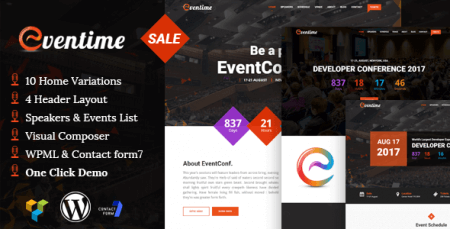Eventime – Conference | Event WordPress Theme