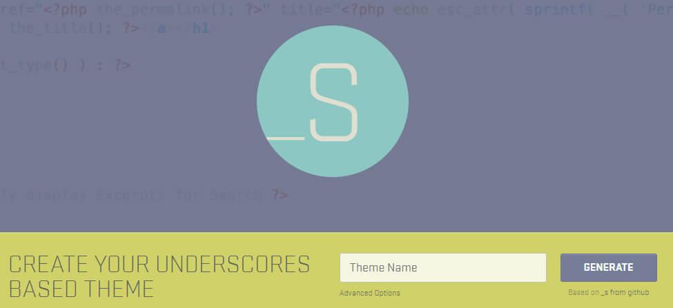 Инструменты WordPress разработчика - UNDERSCORES