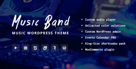 Music Band Live Event and Music Club Wordpress Theme